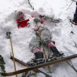 Mátoha v snehu - zapichnutý riťberger