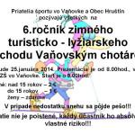 VI.ročník turisticko bežkového prechodu Vaňovským chotárom